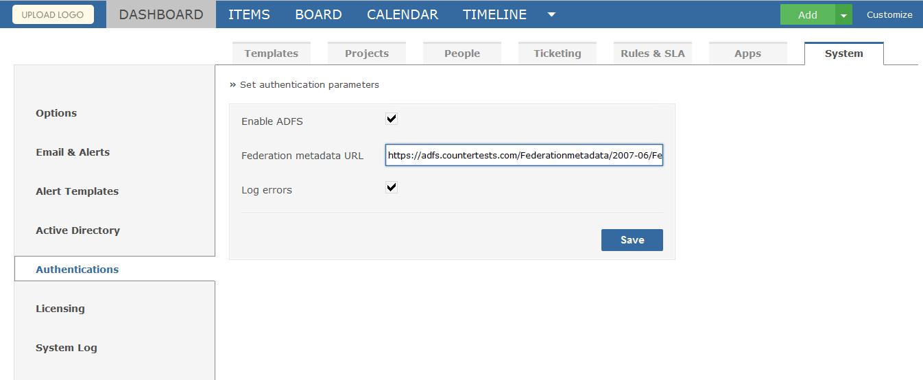 ADFS Setup | Gemini Documentation